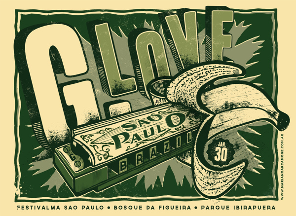 Poster G Love by Mariano Arcamone