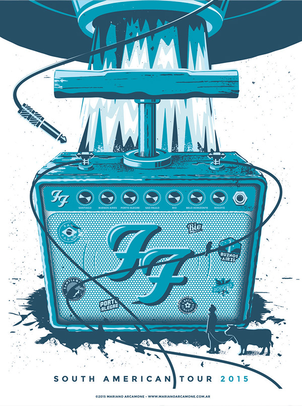 Poster Foo Fighters by Mariano Arcamone