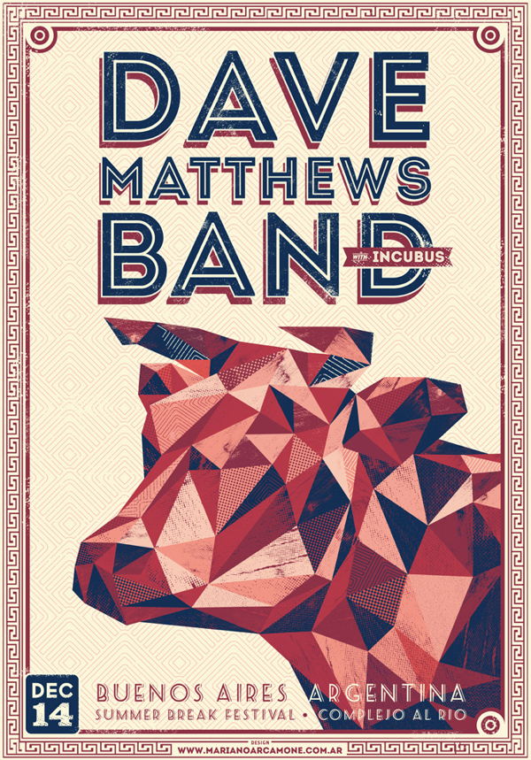 Poster Dave Matthews Band by Mariano Arcamone