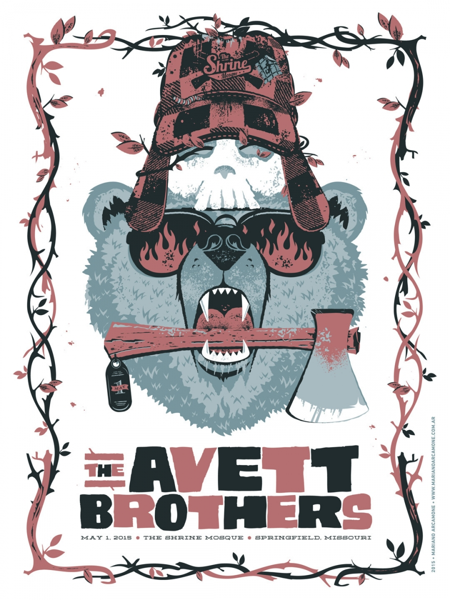 Poster The Avett Brothers by Mariano Arcamone