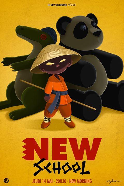 """Affiche New School """"Panda"""" par Zytoun"""